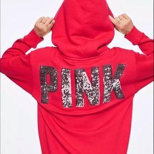 VS PINK Bling Sherpa Hoodie Pullover